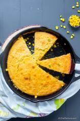 Skillet Cornbread with Creamed Corn
