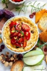 Baked Goat Cheese Dip with Bruschetta