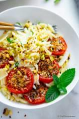Roasted Tomatoes Orzo Pasta