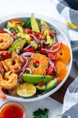 Grilled Shrimp Avocado Salad