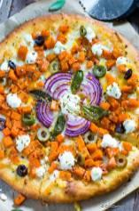 Butternut Squash Pizza with Goat Cheese, Fennel and Sage