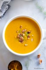 Creamy Curried Sweet Potato Soup with Coconut Milk