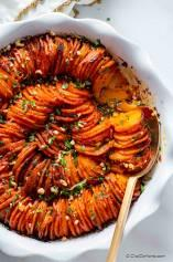 Hasselback Sweet Potatoes Casserole with Chipotle