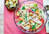 Green Beans Salad with Apples and Orange Dressing
