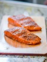Cedar Plank Salmon with Beets Salad