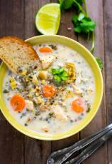 Chicken and Wild Rice Soup in Slow Cooker