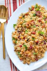 Moroccan Couscous Tfaya with Chickpeas and Cranberries