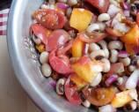 Summer Peaches and Black-eyed Peas Salad