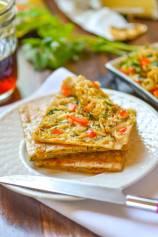 Ramen Noodles Stuffed Snack Flat Bread