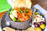 Vegan Roasted Eggplant and Tomato Party Dip