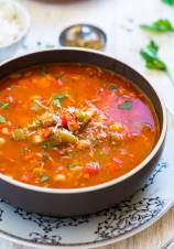 Vegetarian Stuffed Pepper Soup