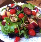 Ruby Red Apples, Plum and Cherry Tomatoes Salad
