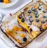 Mango Blueberry Bread Pudding