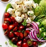 Avocado Tomato Mozzarella Salad