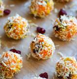 Indian Gajar Halwa Ladoo - Sweet Carrot and Coconut Truffles