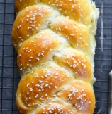 Traditional Braided Challah Bread