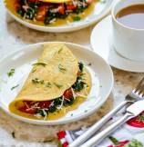 Vegan Chickpea Flour and Spinach Breakfast Omelet