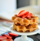 Cinnamon Sugar Churro Waffles