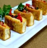 Crispy Tofu Snack Pockets with Crunchy Vegetables Filling