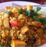 Pineapple Tofu Curry Fried Rice