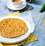 Leftover Lentils Breakfast Flat Bread - Indian Daal Parantha