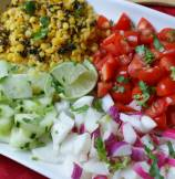 Split Gram Garden Salad with Mustard-Lime Vinaigrette