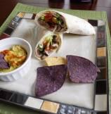 Guaca-Mushroom Wrap