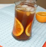Refreshing Orange Ice Tea