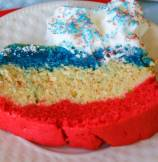 Patriotic Tri-Color Pound Cake