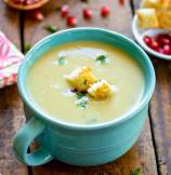Creamy Potato Leek Soup in Pressure Cooker