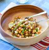 Nutty Quinoa and Chickpeas Salad