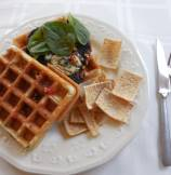 Savory Waffle and Grilled Portobello Sandwich