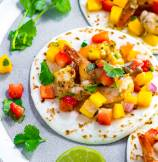 Garlic Shrimp Tacos with Mango Salsa