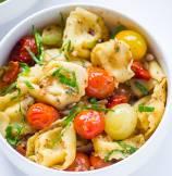 Cherry Tomato Basil Tortellini Pasta