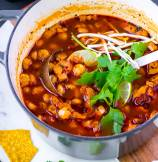 Easy Posole Rojo Turkey Soup
