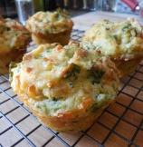Zucchini and Spinach Muffins