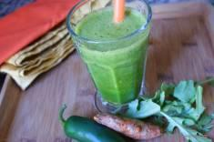 Hot Rocket Arugula, Jalapeno, and Turmeric Smoothie