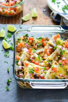 Chipotle Sofritas and Black Beans Casserole