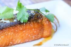 Pan-Seared Salmon with Mango Habanero Hot Sauce