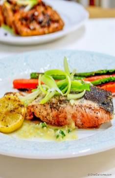 Grilled Salmon with Lemon-Butter Sauce Salmon Burgers with Lemon-Caper ...