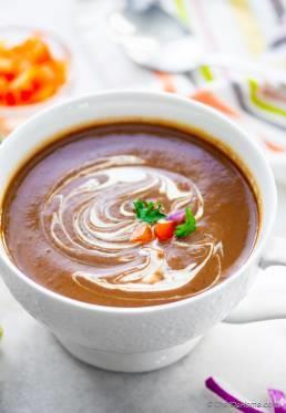Spicy Black Bean Soup (Instant Pot)