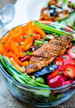 Blackened Chicken Chopped Salad