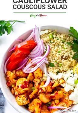 Roasted Cauliflower with Couscous Salad