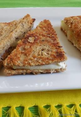 Pickled Cucumber and Cream Cheese Sandwich