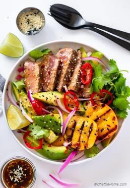 Grilled Tuna Steak Salad