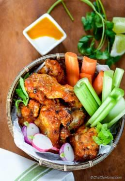 Sweet and Spicy Mango Harissa Chicken Wings