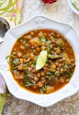 Slow Cooker Turnip, Kale and Lentil Soup