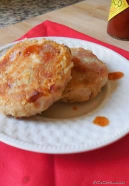 Kimchi Mashed Potatoes Cakes
