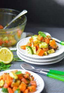 Indian Mint and Sweet Potato Salad   Vrat Ki Chatpati Pudina Shakarkandi Chaat