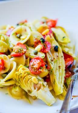 Roasted Fennel and Artichoke Pasta Salad